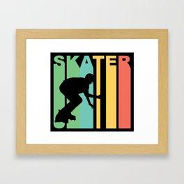 Retro Style Skater Inline Skating Framed Art Print