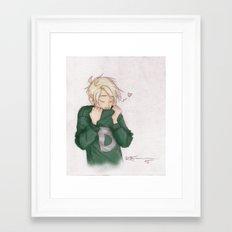 Draco - Weasley Sweater Framed Art Print