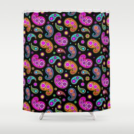 Paisleys and Flowers Shower Curtain