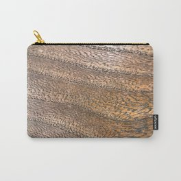Warm Waved Wood Carry-All Pouch