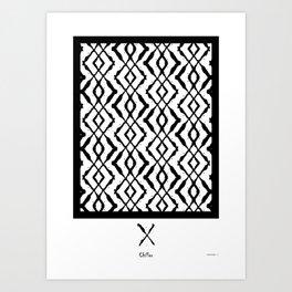 LETTERNS - X - Chiller Art Print