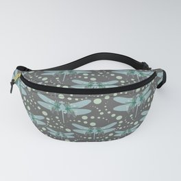 dragonflies with grey pattern 1 Fanny Pack