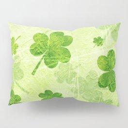 Green Shamrocks Pillow Sham