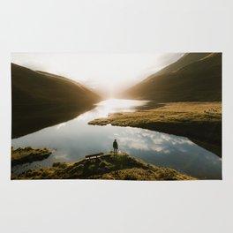 Sunrise in Switzerland Rug