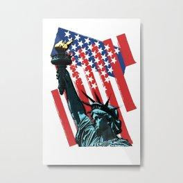 Stars, stripes and Liberty Metal Print