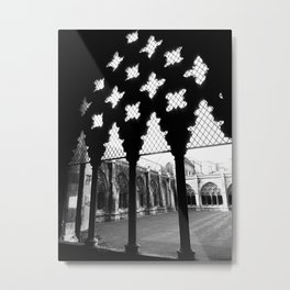 Courtyard of the Abbey Metal Print