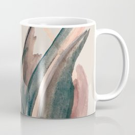 Slow Burn: a pretty, minimal, abstract mixed media piece using watercolor and ink Coffee Mug