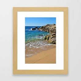 Seascape Costa Brava Framed Art Print