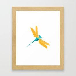Origami Dragonfly Framed Art Print