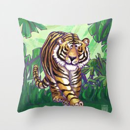 Animal Parade Tiger Throw Pillow