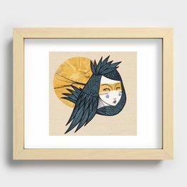 Indian bird Recessed Framed Print
