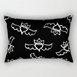 Love is king / white-on-black pattern design Rectangular Pillow