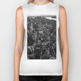 Black and White New York City Biker Tank