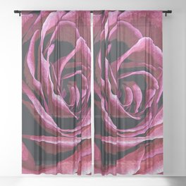 Rose Sketch Sheer Curtain