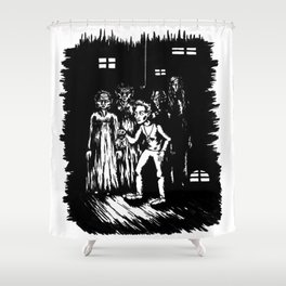 A step into Oblivion Shower Curtain