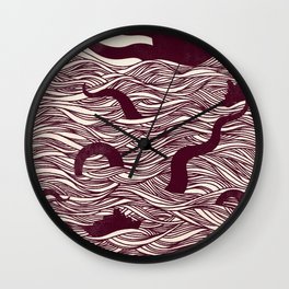 Octopus The Rising Sun II Wall Clock