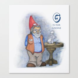 G is for Gnome Canvas Print