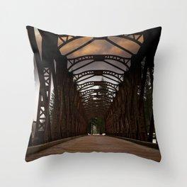 The Old Railway Bridge - Slovenia Throw Pillow