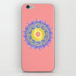 Mandala #105, Peach and Sunshine iPhone Skin