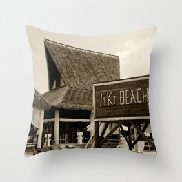 Travel Photography : Tiki Beach in Cayman Islands Throw Pillow