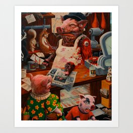 Meat Market Art Print