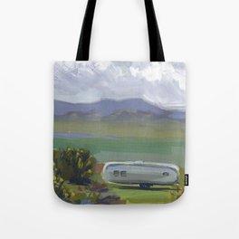 AIRSTREAM, Montana Travel Sketch by Frank-Joseph Tote Bag