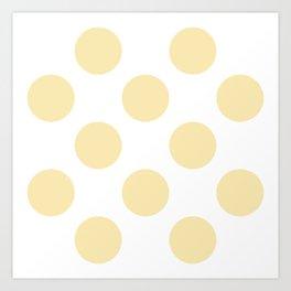 Bolas baby yellow Art Print