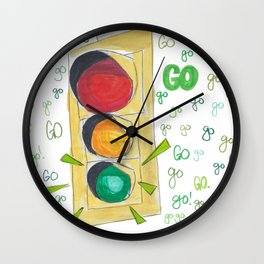 Go!Go!Go! Wall Clock