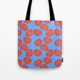 Tomato slices - food illustration Tote Bag