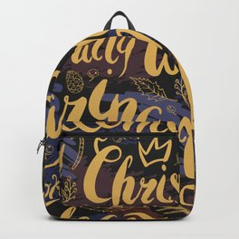 Christmas cozy words Backpack