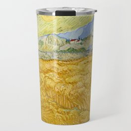 "Vincent van Gogh ""Wheat Field behind Saint Paul Hospital with a Reaper"" Travel Mug"