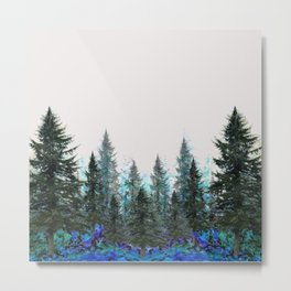 MOUNTAIN FOREST PINES LANDSCAPE  ART Metal Print