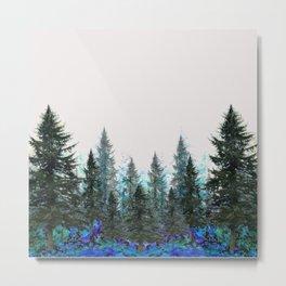 MOUNTAIN FOREST PINES LANDSCAPE  ART Metal Print