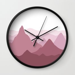 Mono Mountains - Rose Wall Clock