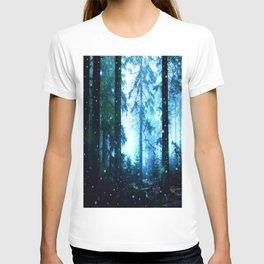 Fireflies Night Forest T-shirt
