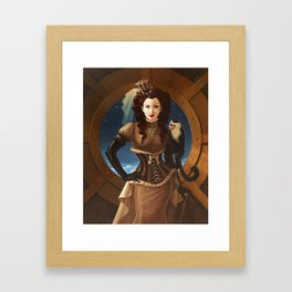 """Capuchin"" Steampunk Pin-Up Framed Art Print"