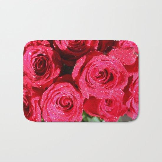 Red roses Bath Mat