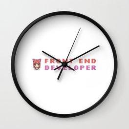 Cute Front End Developer Wall Clock