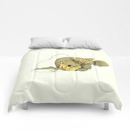 Gold Arowana Comforters