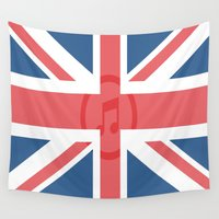 england Wall Tapestries featuring  England by XKbeth
