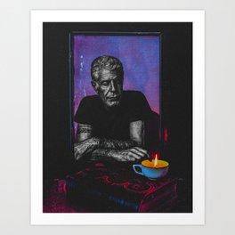 Anthony Bourdain Tribute Art Print