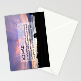 Hiraeth Homesick Sunset Stationery Cards