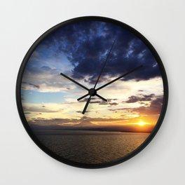 日没 // Sunset on Enoshima Beach with Mount Fuji Wall Clock