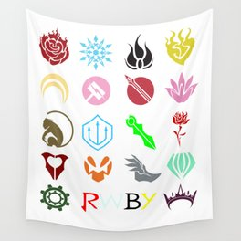 RWBY Emblems Wall Tapestry