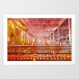 Abandoned Silk Mill - Pastel Grunge Art Print