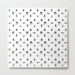 CAMPING (white) Metal Print