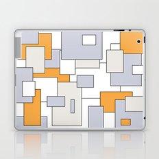 Squares - orange, gray and white. Laptop & iPad Skin