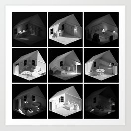 ourhouse.blend [Home remix] Art Print