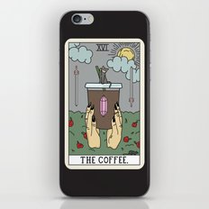 (BLACK) COFFEE READING iPhone & iPod Skin