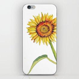 Watercolour Sunflower  iPhone Skin